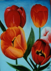 Tulips for Mother (acrylic on canvas)